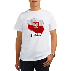 Poland flag map Organic Men's T-Shirt