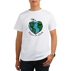 Peace on Earth Ash Grey Organic Men's T-Shirt