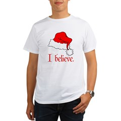 I Believe in Santa Ash Grey Organic Men's T-Shirt