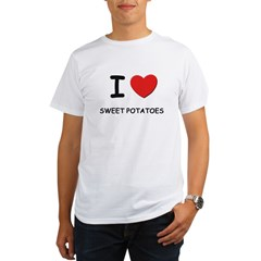 I love sweet potatoes Ash Grey Organic Men's T-Shirt