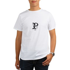 Pat: Fancy Monogram Ash Grey Organic Men's T-Shirt