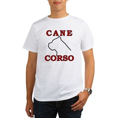 Cane Corso Logo Red Organic Men's T-Shirt