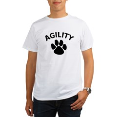 Dog Agility Paw Ash Grey Organic Men's T-Shirt
