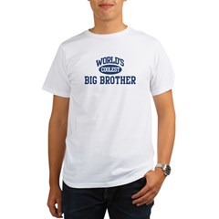 Coolest Big Brother Ash Grey Organic Men's T-Shirt
