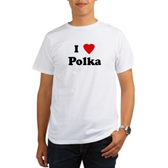 I Love Polka Ash Grey Organic Men's T-Shirt