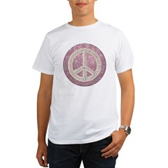 Diamond Peace Sign Organic Men's T-Shirt