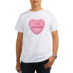 I Luv JOANNA Candy Heart Organic Men's T-Shirt