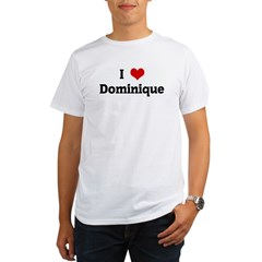 I Love Dominique Ash Grey Organic Men's T-Shirt