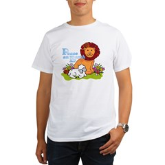 Lion & Lamb Peace On Earth Organic Men's T-Shirt