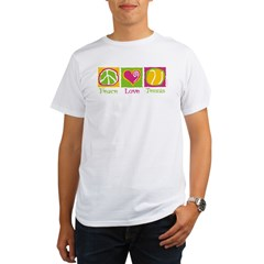 Peace Love Tennis Organic Men's T-Shirt