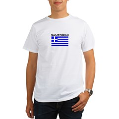 Santorini, Greece Organic Men's T-Shirt