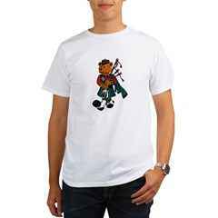 Jimmie the Scottish Piper Bear Organic Men's T-Shirt