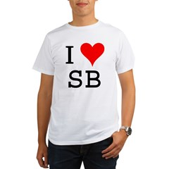 I Love SB Organic Men's T-Shirt