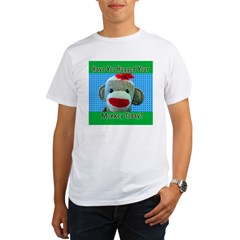 Hugged Monkey? Ash Grey Organic Men's T-Shirt