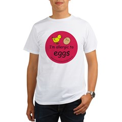 I'm allergic to eggs-red Organic Men's T-Shirt