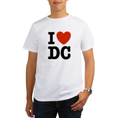 I Love DC Organic Men's T-Shirt