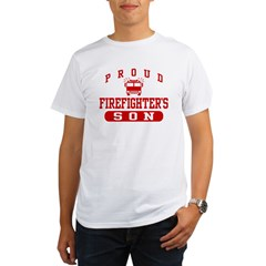 Proud Firefighter's Son Organic Men's T-Shirt