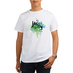 abstract floral design Organic Men's T-Shirt