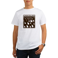 'Rain Drop Chocolate' Organic Men's T-Shirt