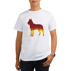 Laekenois Flames Organic Men's T-Shirt