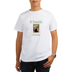 St. Bernadette of Lourdes Organic Men's T-Shirt
