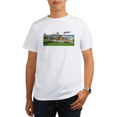 Old Quebec Pano with Signatur Organic Men's T-Shirt