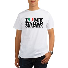 I Love My italian Grandpa Organic Men's T-Shirt