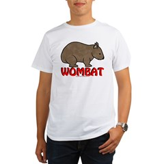 Wombat Logo Tee Shirt Light Colored Organic Men's T-Shirt