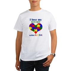 I love my BROTHER with Autism Organic Men's T-Shirt