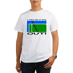 """It was out!"" Organic Men's T-Shirt"