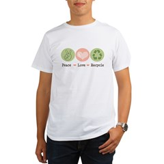 Recycling Peace Love Recycle Organic Men's T-Shirt
