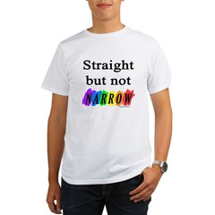 Straight but not narrow rainb Organic Men's T-Shirt