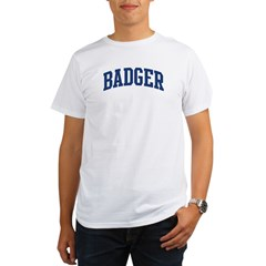 BADGER design (blue) Organic Men's T-Shirt