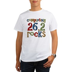 Completing 26.2 Rocks Marathon Run Organic Men's T-Shirt