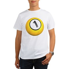 Billiards One Ball Organic Men's T-Shirt
