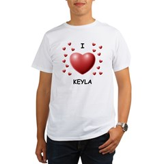 I Love Keyla - Organic Men's T-Shirt