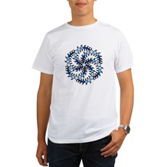 MilkHill Blue Transparent Organic Men's T-Shirt