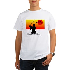 Samurai in Sun Organic Men's T-Shirt