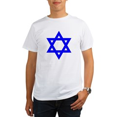 Star of David Blue Organic Men's T-Shirt