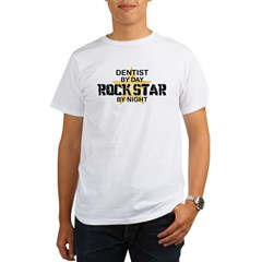 Dentist RockStar by Night Organic Men's T-Shirt