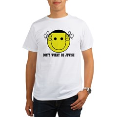 Don't Worry Be Jewish Organic Men's T-Shirt