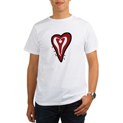 Valentine Dotty Heart Organic Men's T-Shirt