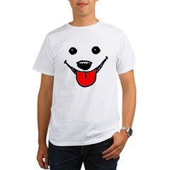 Happy Dog Face Organic Men's T-Shirt