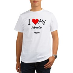 I Love My Albanian Mom Organic Men's T-Shirt