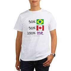 Brazil/Canada Flag Design Organic Men's T-Shirt