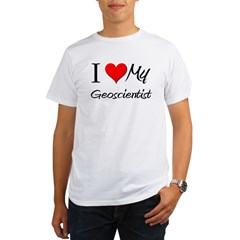 I Heart My Geoscientis Organic Men's T-Shirt