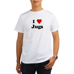 I Love Jugs Organic Men's T-Shirt
