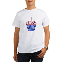 4th of July Cupcake Organic Men's T-Shirt