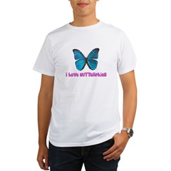 I Love Butterflies Organic Men's T-Shirt