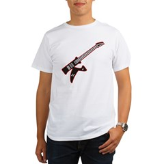 Electric Guitar K Custom Initial Organic Men's T-Shirt